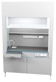Шкаф вытяжной с сантехникой ШВ НВК 1500 НЕРЖ+ (1500x716x2200)